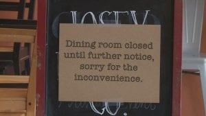 Restaurants Dining Room Closed